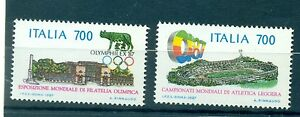 Monuments Italy 1987 Olymphilex '87 Dashing Architettura Stamps Architecture