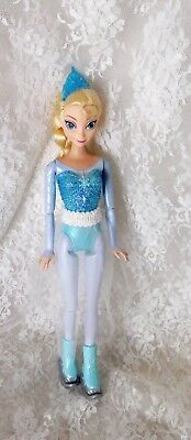 "Dolls & Bears 2013 Mattel Disney Frozen 11 1/2"" Skating Elsa Doll #cbc83 Handmade Skirt"