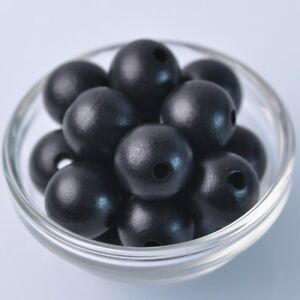 20pcs-20mm-Black-Round-Natural-Wood-Loose-Spacer-Beads-Wholesale-Bulk-Lot