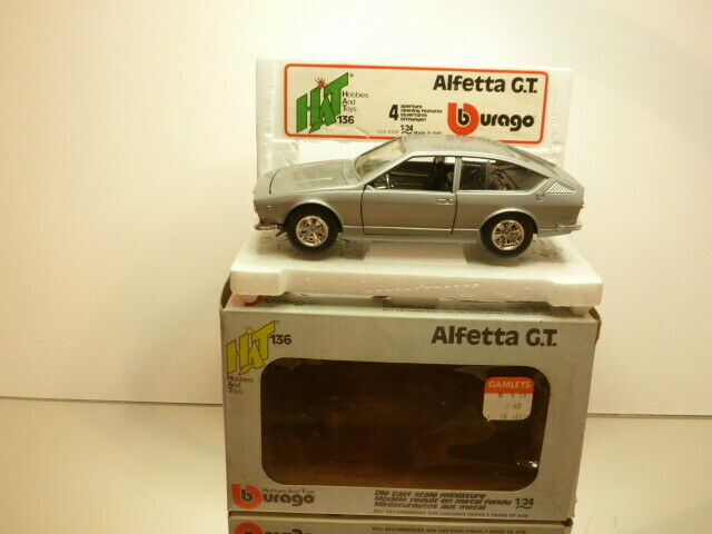 BBURAGO 0136 ALFA ROMEO ALFETTA GT - grigio METALLIC 1 24 - VERY GOOD IN BOX