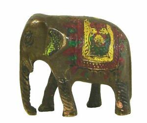 Elephant-Shape-Vintage-Handmade-Brass-Statue-Sculpture-Idol-Figure-Home-Decor-E2