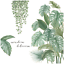 thumbnail 6 - Tropical-Green-Plants-Palm-Leaves-Vines-Garland-Wall-Decals-Vinyl-Decal-DIY-AU
