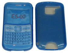 For Nokia E5 E5-00 E5 00 TPU Pattern Gel Case Cover Protector Pouch Blue New UK