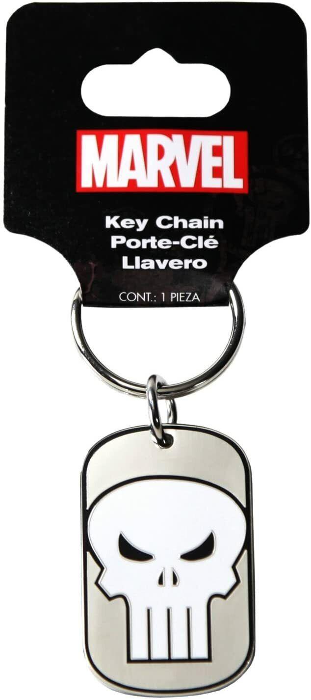 [NEW] Genuine MARVEL THE PUNISHER   Dog Tag Keychain   Marvel Licensed   CQQL