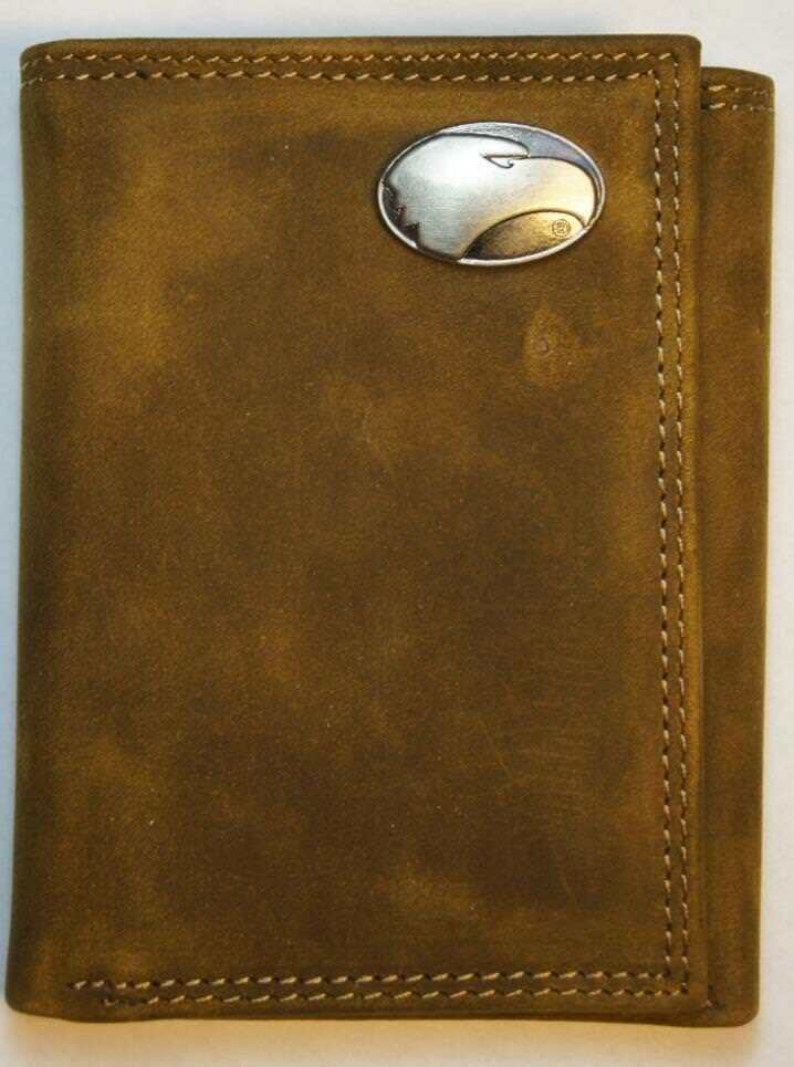 ZEP-PRO Georgia Southern Crazy Horse Leather  WALLET Tin Gift Box