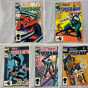 Lot-Of-5-Web-of-Spider-Man-4-9-10-11-12-Jul-1985-Marvel