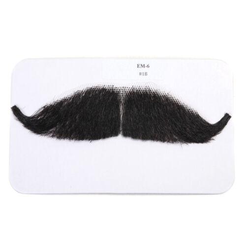 Men Fake Beard Man Mustache Handmade Makeup 100/% Human Hair Fancy Dress Props