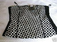 White House Black Market Funny Game Geo Embroided Bustier Size 12