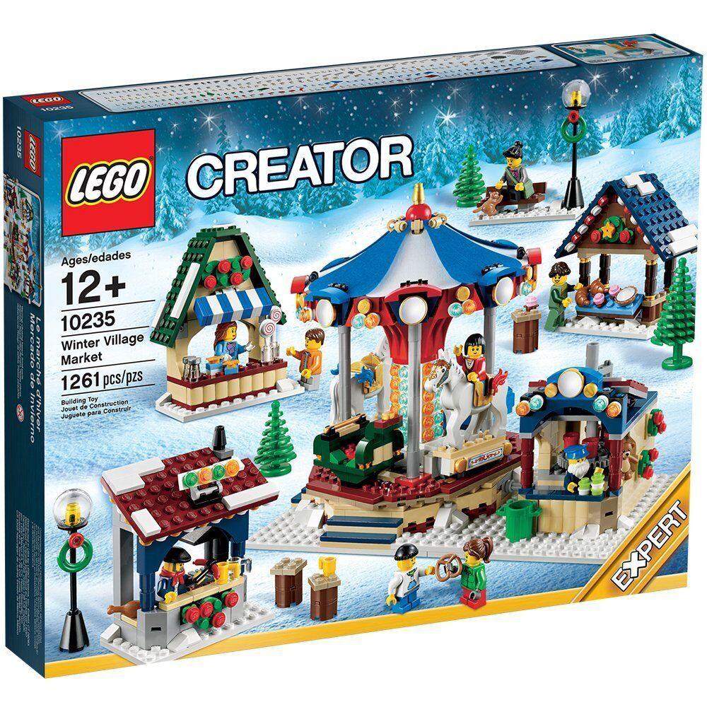 Vacaciones de Lego Navidad jubilación 10235 invernalia mercado nueva y sellada