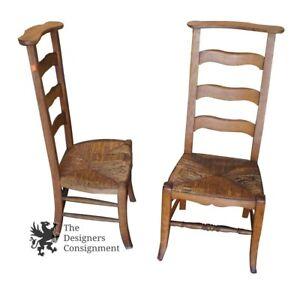 2 antique ladderback butler chairs clothing valet wicker seat arts rh ebay com antique baby butler high chair Vintage Wood Valet Butler Chair