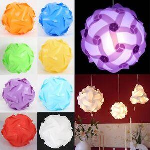 30pcs Elements Modern IQ Puzzle Jigsaw Light Lamp Shade Ceiling Lampshades Fun