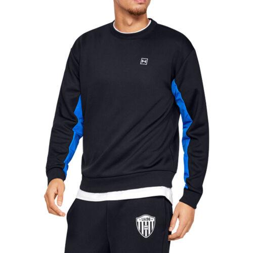 Under Armour toujours sur doubleknit Crew Sweat-shirt UA Homme Noir Pull