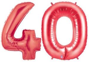 40th-ANNIVERSARY-BALLOONS-34-034-METALLIC-RED-BETALLIC-40-PARTY-SUPPLIES-BALLOONS