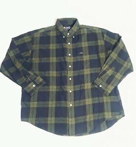 RALPH-LAUREN-Chaps-Blackwatch-Tartan-Olive-PLAID-Button-Down-Shirt-SZ-XL