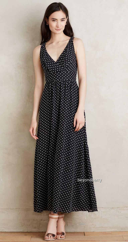 NEW Anthropologie Clipdot Maxi Dress by Eva Franco  Größe 6