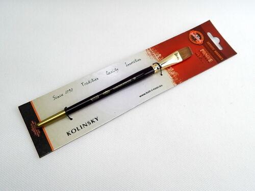 KOLINSKY SABLE ARTIST BRUSH PAINT KOH-I-NOOR ART WATERCOLOUR OIL ROUND FLAT 9935