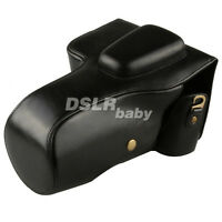 Deluxe Black Leather Camera Case Bag Cover for Canon EOS 70D 60D Digital DSLR