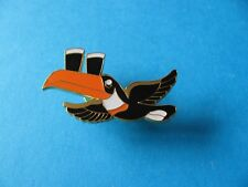 Guinness Black Flying Toucan Pin badge VGC Orange Stripe. 2 Pint Unused
