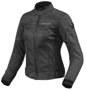 GIACCA-MOTO-DONNA-LADIES-REVIT-REV-039-IT-ECLIPSE-ESTIVA-BLACK-NERO-TG-40-44-L
