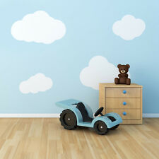 4 x Baby Boy Girl Nursery Cloud Pattern Wall Paper Look Stickers Vinyl Decal
