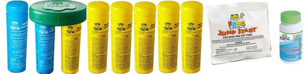 2-3 Giorno Spa Rana Kit Confezione da 8 6 Bromine 2 Minerali Strisce Reattive D