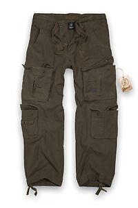Brandit-Puro-Vintage-Pantalon-Militar-Hombre-Talla-Grande-Pantalones-Ropa-de