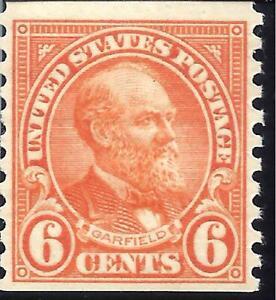 ORLEY STAMPS US SCOTT # 723 6¢ deep orange, vert. perf .COIL SINGLE MNH/OG
