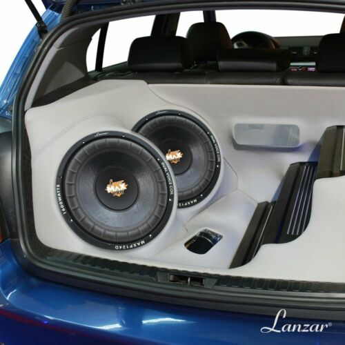 "4 OHM COFANO AUTO SUBWOOFER LANZAR 12/"" 300 MM MAXP124D DA 800 WATT RMS DVC 4"
