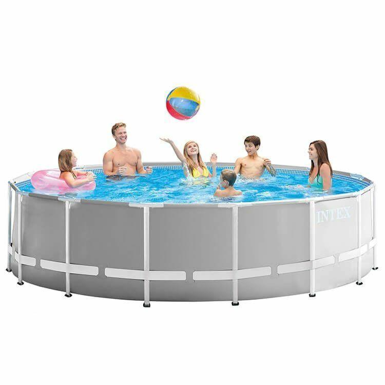 Intex Prism Frame Swimmingpool-Set Rund 457 x 107 cm 26724GN + Sandfilteranlage