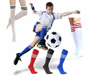 Hot-Students-Girls-High-Over-Knee-Athletic-Daily-Soccer-Casual-Tube-Stripe-Socks