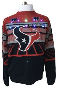 Details about Houston Texans NFL Stadium Light Up Ugly Sweater Mens Medium NWT Retail $79.99