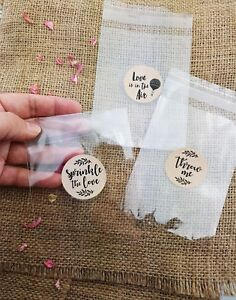 Wedding-Confetti-EMPTY-Cello-Bags-amp-stickers-throwing-bag-sprinkle-the-love