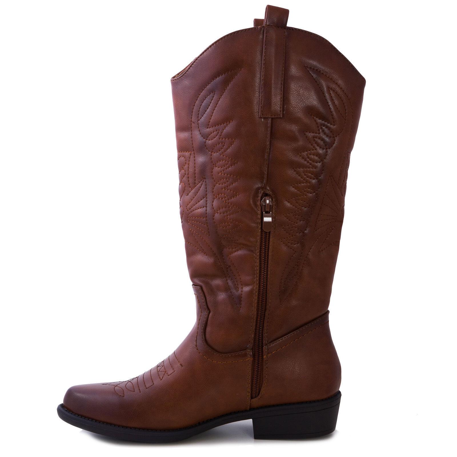 Stiefel Frau Texaner cowboy western Öko-Leder Winter Winter Winter Stiefeletten sexy N9X8371-3 a4a21b