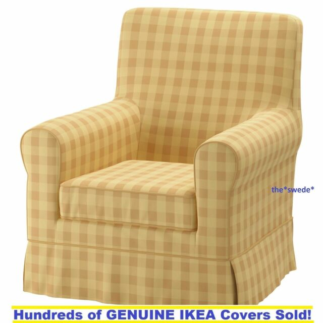 Ikea Rp Jennylund Armchair Chair Slipcover Cover Skaftarp Yellow