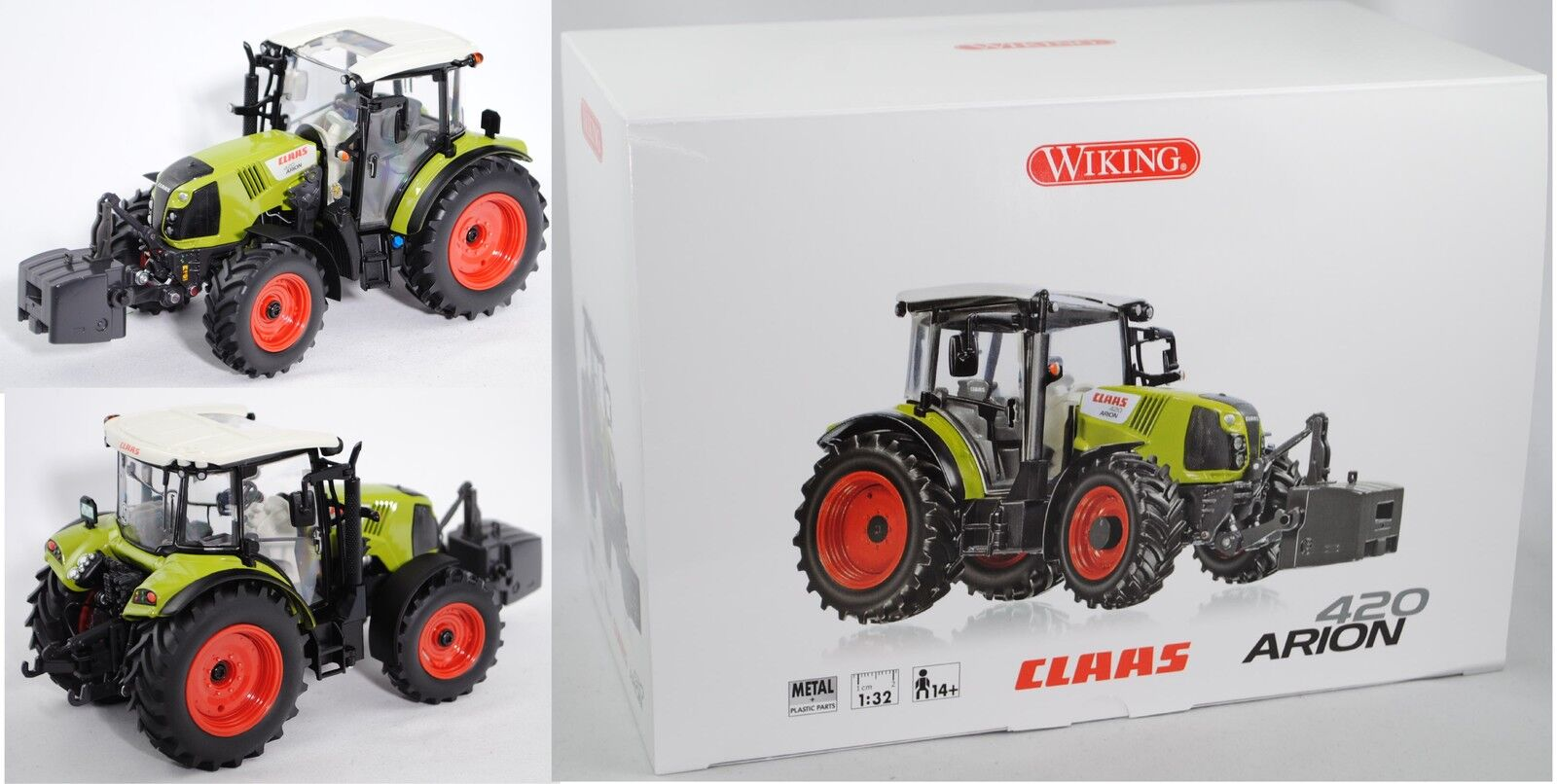 Wiking 077811 Claas Arion 420 tractor con panoramic-cabina, 1 32