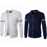 Mens Fashion Varsity Baseball Letterman College Jacket Coat Outerwear Tops XS-XL