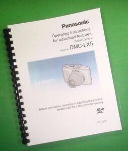 panasonic dmc lx5 advanced camera 236 page laser printed owners rh ebay com Marcum LX5 Craigslist Panasonic Lumix DMC LX5 Review
