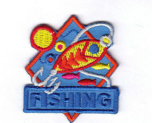 FISHING Iron On Patch Fish Lure Sport | eBay