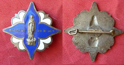 Insigne Broche Ancienne Emaillée De Pelerinage Diocese De Dijon 100% Origineel