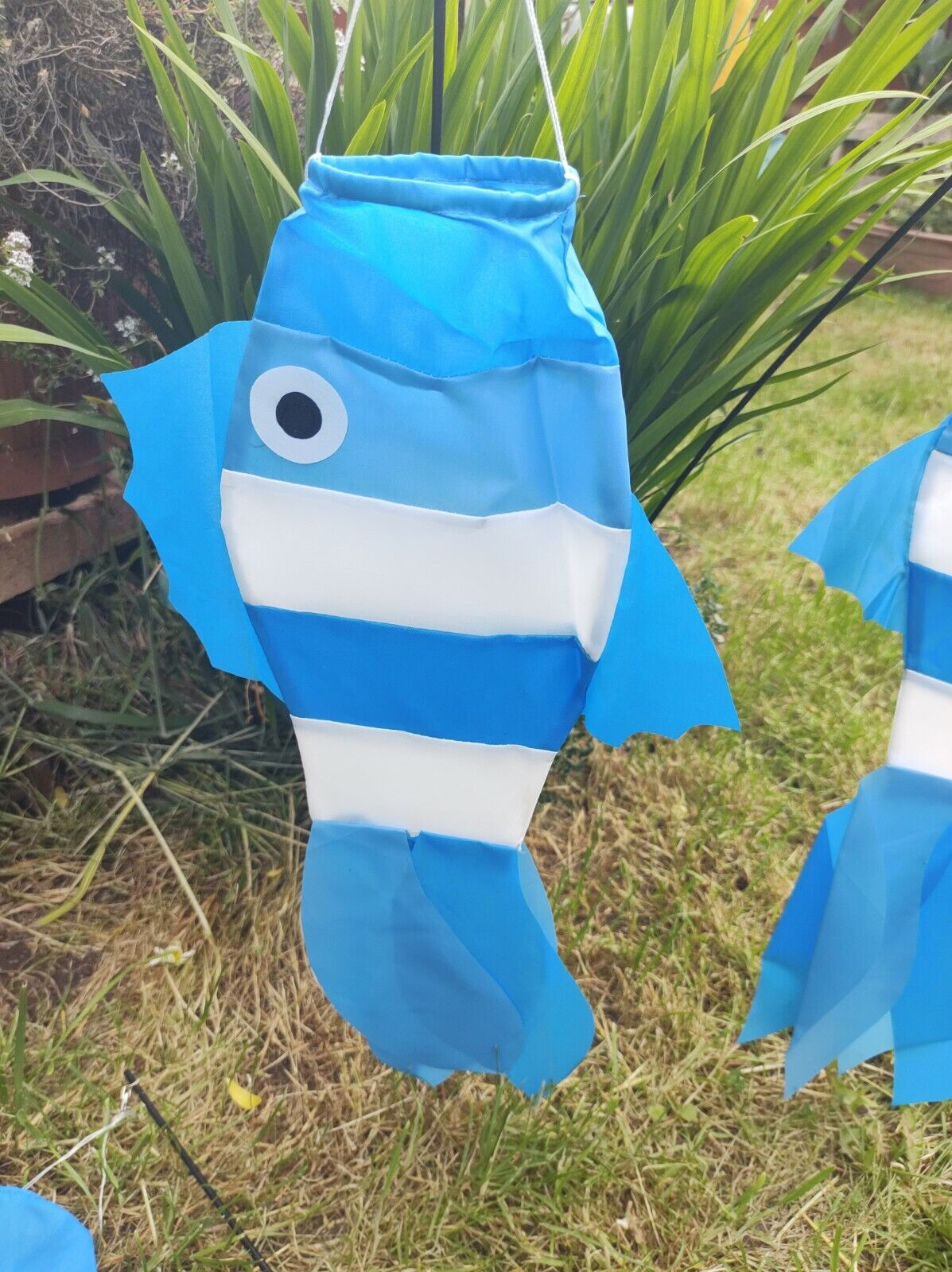 4 x Fish Windsock GARDEN Ornaments Spinner Decking Patio Caravan Bbq