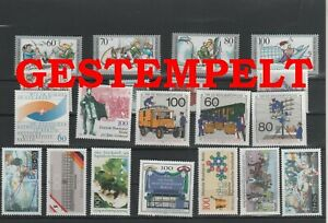 Germany-Berlin-vintage-yearset-1990-Postmarked-Used-complete-More-Sh-Shop