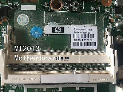 For HP EliteBook 6560B 8560P Intel laptop Motherboard 646964-001 test OK