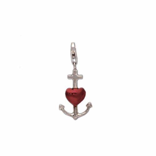 Charms Silber 925 Charm Anhänger Kette LiebeTreue Hoffnung Herz Anker Kreuz
