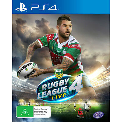 Rugby League Live 4 PlayStation 4 Game NEW