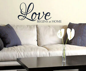 Love Begins At Home Wall Art Decal Quote Words Lettering Decor Saying Diy Ebay