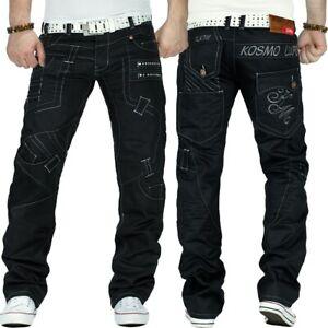 KOSMO-Lupo-Uomo-Jeans-Denim-Straight-Cut-Pantaloni-Clubwear-Discoteca-Tempo-Libero-Dope