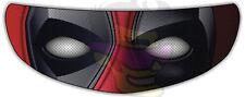 Deadpool Helmet Visor Sticker Motorcycle Superhero Shield Decal Tint Eyes NEW