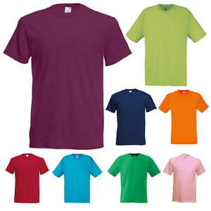 FRUIT-OF-THE-LOOM-ORIGINAL-PLAIN-SHORT-SLEEVE-T-SHIRT-TEE-T-SHIRT-SS12