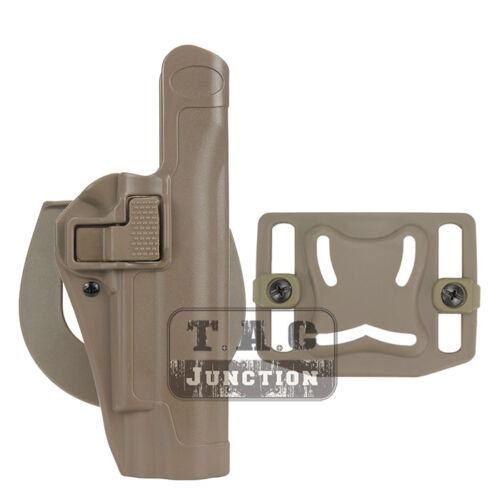 Serpa livello 2 auto mano destra Girovita Lock Pistol Pistola fondina per Colt 1911 M1911