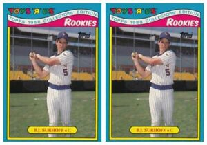(2) 1988 Topps Toys R' Us Rookies Baseball 31 B.J. Surhoff Lot Brewers